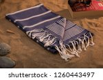 handwoven hammam turkish cotton ... | Shutterstock . vector #1260443497