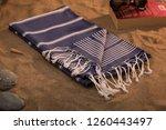 handwoven hammam turkish cotton ...   Shutterstock . vector #1260443497