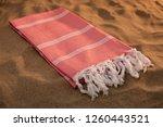 handwoven hammam turkish cotton ... | Shutterstock . vector #1260443521