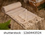 handwoven hammam turkish cotton ... | Shutterstock . vector #1260443524