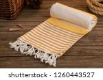 handwoven hammam turkish cotton ... | Shutterstock . vector #1260443527