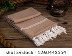 handwoven hammam turkish cotton ... | Shutterstock . vector #1260443554