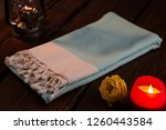 handwoven hammam turkish cotton ... | Shutterstock . vector #1260443584