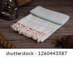 handwoven hammam turkish cotton ... | Shutterstock . vector #1260443587