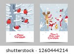 funny christmas greeting cards. ... | Shutterstock .eps vector #1260444214