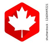 canadian flag the maple leaf... | Shutterstock .eps vector #1260449221