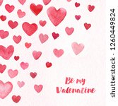 valentine day hearts card... | Shutterstock . vector #1260449824
