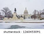 winter washington dc  us... | Shutterstock . vector #1260453091
