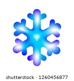 snowflake icon or logo.... | Shutterstock .eps vector #1260456877