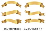 set of ribbons.golden ribbon... | Shutterstock .eps vector #1260465547