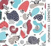 vector seamless pattern with... | Shutterstock .eps vector #1260467164