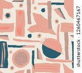 vector seamless pattern. torn... | Shutterstock .eps vector #1260467167