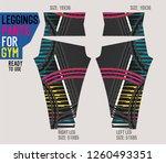 leggings pants for gym | Shutterstock .eps vector #1260493351