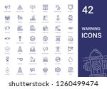 warning icons set. collection...   Shutterstock .eps vector #1260499474