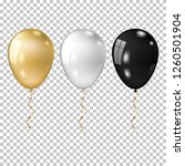 realistic gold  white and black ... | Shutterstock .eps vector #1260501904
