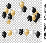realistic gold balloon ... | Shutterstock .eps vector #1260501907
