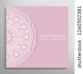 invitation or card template... | Shutterstock .eps vector #1260502381