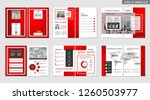 brochure creative design.... | Shutterstock .eps vector #1260503977