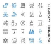 glass icons set. collection of... | Shutterstock .eps vector #1260504544