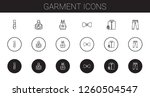garment icons set. collection... | Shutterstock .eps vector #1260504547