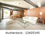 an open modern living room with ... | Shutterstock . vector #12605140