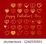 valentines day background with... | Shutterstock .eps vector #1260520501