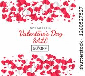 happy valentine's day sale... | Shutterstock .eps vector #1260527527