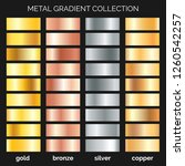 metallic gradations. argent and ... | Shutterstock .eps vector #1260542257