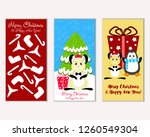vector illustration of winter... | Shutterstock .eps vector #1260549304