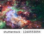 nebula an interstellar cloud of ... | Shutterstock . vector #1260553054