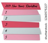 new year resolutions sticky... | Shutterstock .eps vector #1260575227