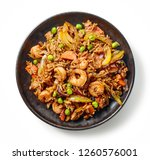plate of asian food  fried rice ... | Shutterstock . vector #1260576001
