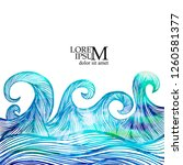 abstract sea background with... | Shutterstock .eps vector #1260581377