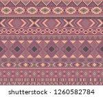 peruvian american indian... | Shutterstock .eps vector #1260582784