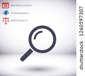 search magnifying glass icon | Shutterstock .eps vector #1260597307