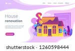 workers with paintbrush and... | Shutterstock .eps vector #1260598444
