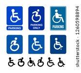 set of wheelchair  handicap or...   Shutterstock .eps vector #1260598894