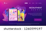 recruiters and managers... | Shutterstock .eps vector #1260599197
