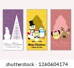 vector illustration of merry... | Shutterstock .eps vector #1260604174