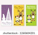 vector illustration of merry... | Shutterstock .eps vector #1260604201