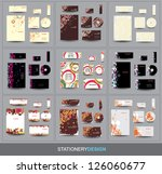 collection stationery design | Shutterstock .eps vector #126060677