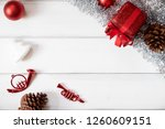 red giftbox ornament christmas... | Shutterstock . vector #1260609151