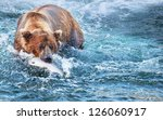 fishing bear in alaska | Shutterstock . vector #126060917