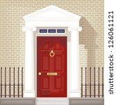 tront door | Shutterstock . vector #126061121
