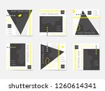 a large set for social media... | Shutterstock .eps vector #1260614341