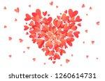 vector trendy coral pink color... | Shutterstock .eps vector #1260614731
