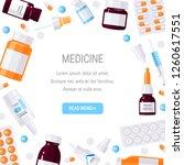 square frame made of medicine... | Shutterstock .eps vector #1260617551