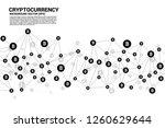 vector bitcoin icon from... | Shutterstock .eps vector #1260629644