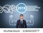 solution concepts new year 2019 ... | Shutterstock . vector #1260632077