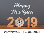 new year concepts countdown... | Shutterstock . vector #1260635821